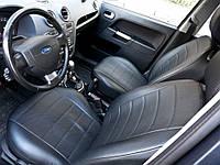 Чехлы на сиденья БМВ Е60 (BMW E60) (универсальные, экокожа Аригон), фото 1