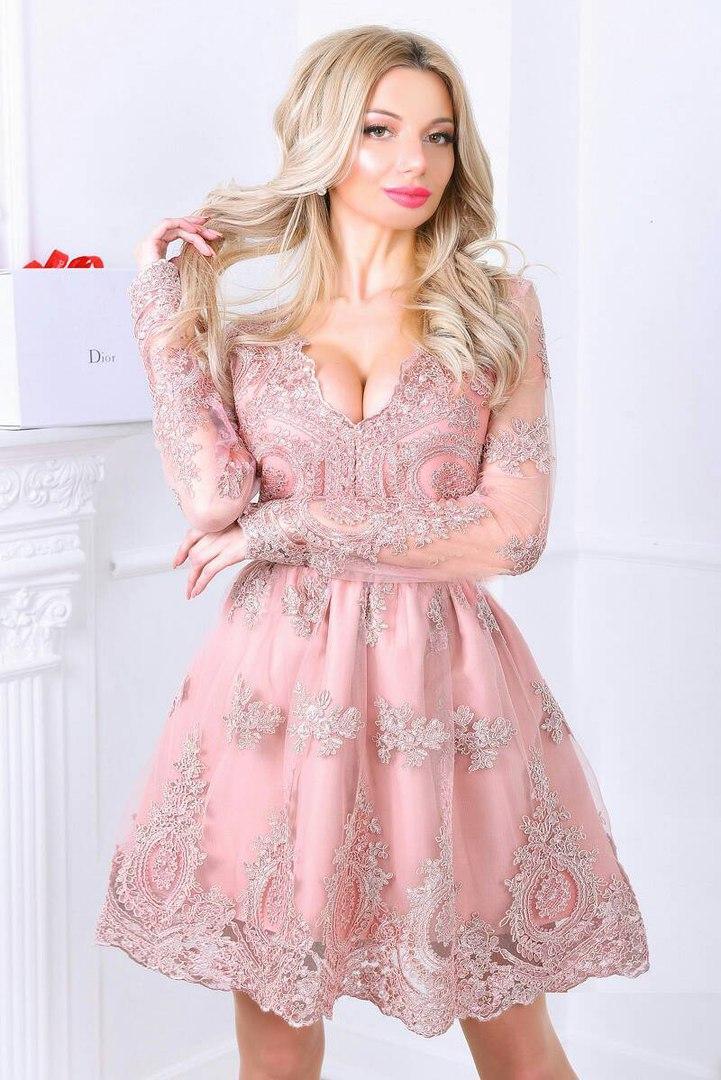 6306e654e58 Платье на Выпускной Короткое Пышное VM-9157 — в Категории