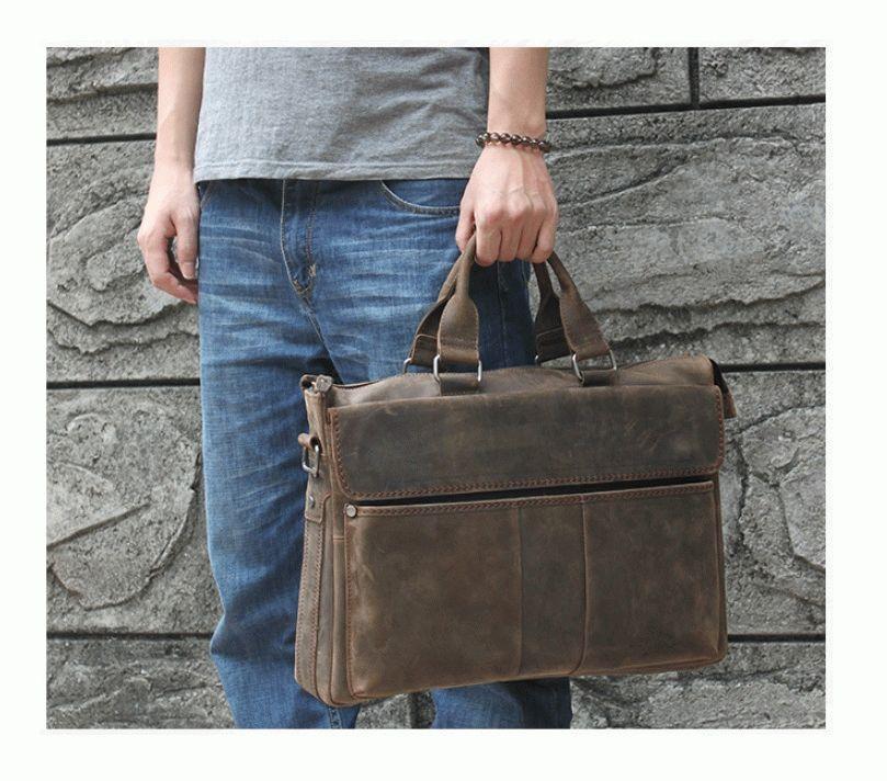 Сумка TIDING BAG t1096 кожаная Коричневый - Цена 91d59d009f351
