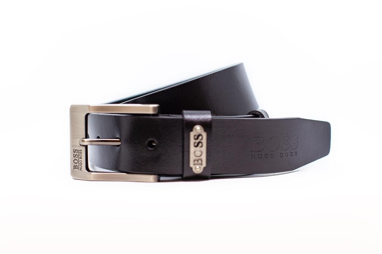 Ремень джинсовой Hugo Boss 40 мм Цвет черный ,кожаный