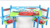 Детский столик и 2 стульчика для занятий и игр, серия мультик, Тачки, Украина