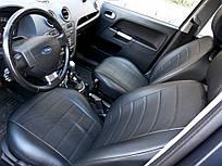 Чехлы на сиденья Шкода Октавия А5 (Skoda Octavia A5) (универсальные, экокожа Аригон)