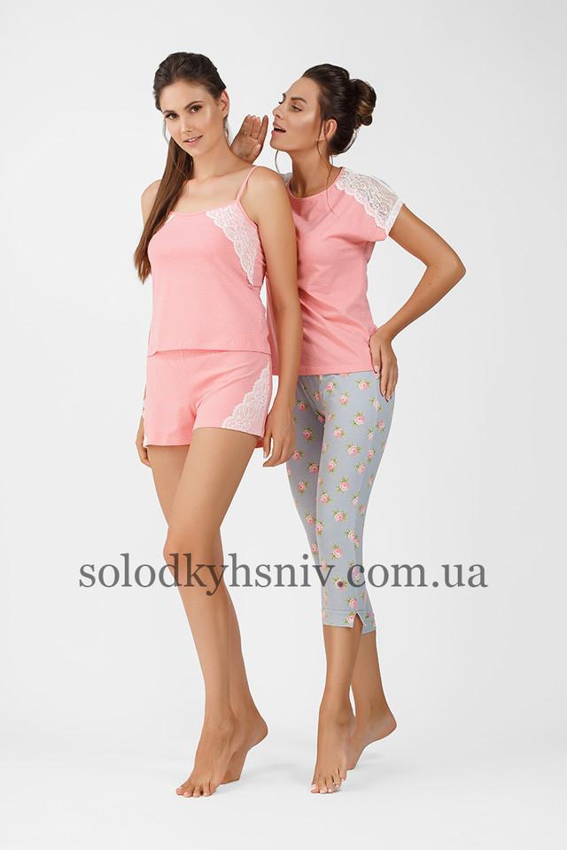 Жіноча піжама ELLEN з шортами Яскравий персик 036 004  продажа b887b6efc5151