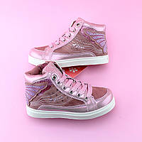 02fa687a Детские ботинки деми девочке розовые Бабочка тм BIKI размер 30,31,32