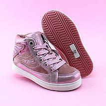 Детские ботинки деми девочке розовые Бабочка тм BIKI размер 30,31, фото 2