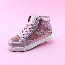 Детские ботинки деми девочке розовые Бабочка тм BIKI размер 30,31, фото 3