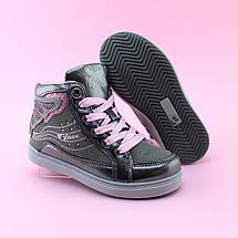 Детские ботинки демисезонные девочке серые Бабочка тм BIKI размер 31, фото 2