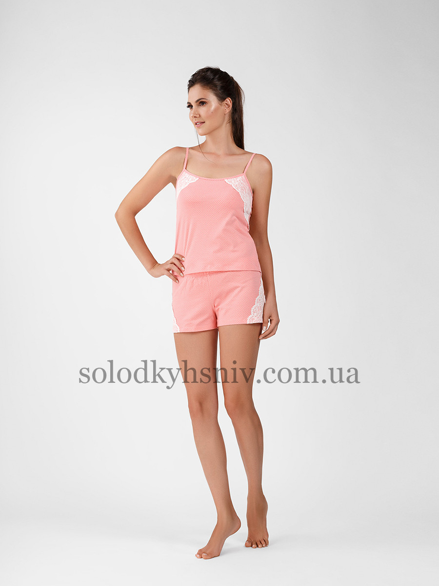 Жіноча піжама ELLEN з шортами Яскравий персик 036 004  продажа 748ea8e78e229