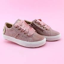 Детские слипоны детские кеды девочке розовая пудра бренд обуви Том.м размер 25, фото 2