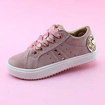 Детские слипоны детские кеды девочке розовая пудра бренд обуви Том.м размер 25, фото 3