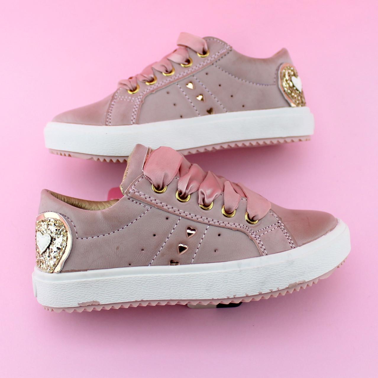 Детские слипоны детские кеды девочке розовая пудра бренд обуви Том.м размер 25