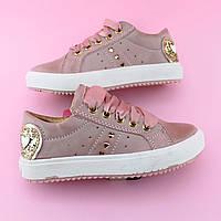 Детские слипоны детские кеды девочке розовая пудра бренд обуви Том.м размер  25 0f2b3293d129f