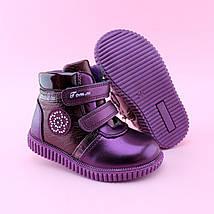 Детские ботинки демисезонные высокие девочке Бордо бренд tom.m размер 22, фото 2