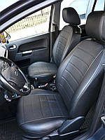 Чехлы на сиденья Тойота Карина (Toyota Carina) (универсальные, экокожа Аригон)