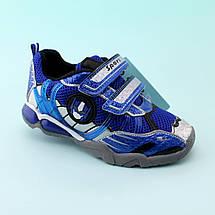 Детские кроссовки мигалки  мальчику Трансформер тм tom.m размер 31,32, фото 3