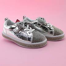 Детские слипоны кроссовки  Стразы Бантик девочке бренд Томм размер 26, фото 3