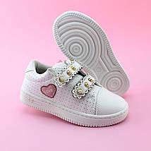 Детские слипоны кроссовки белые для девочки на липучках тм Том.м размер 31, фото 3
