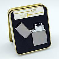 Зажигалка электроимпульсная USB JINLUN JL 215-1 градиент, фото 1