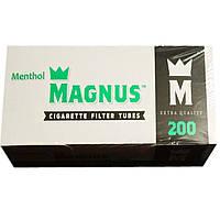 Гильзы для набивки сигарет Magnus Ментол 200 штук.