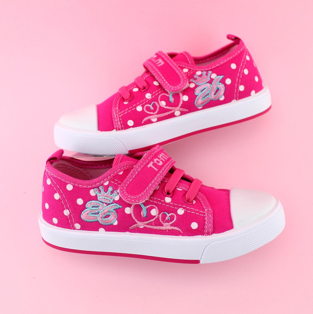 e174d28b Детские кеды девочке розовые серия обуви для спорта тм Том.м размер 25,26