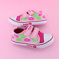 Детские кеды розовые девочке  серия детской обуви для спорта тм Том.м размер 21,22,23,24