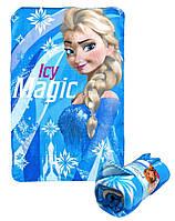 Детский флисовый плед Frozen Анна Эльза Ледяное Сердце 100х150 подарок для девочки