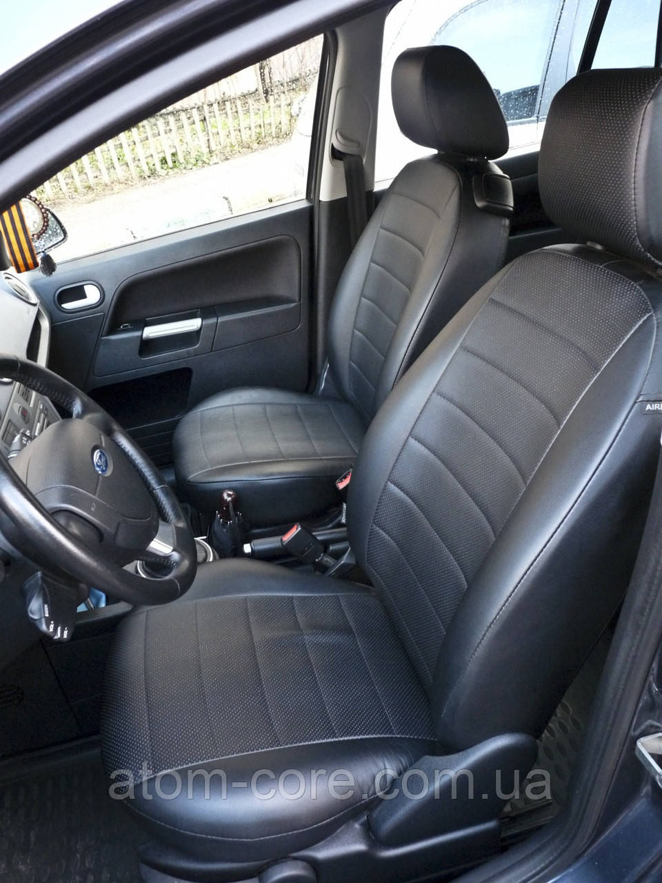 Чехлы на сиденья Ауди 100 С4 (Audi 100 C4) (универсальные, экокожа Аригон) черный