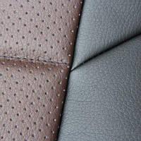 Чехлы на сиденья Ауди А4 Б7 (Audi A4 B7) (универсальные, экокожа Аригон) черно-коричневый