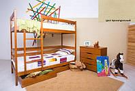 Двухъярусная кровать Дисней 80х190, 2-х ярусная кровать, цвет бук натуральный