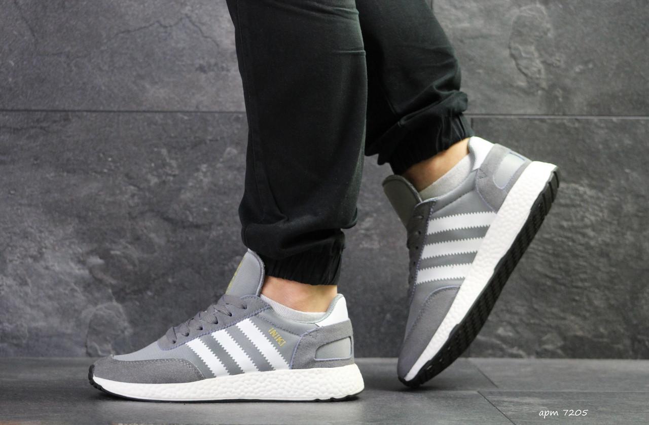 Мужские кроссовки Adidas Iniki (серые)