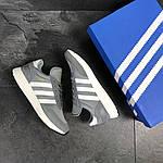 Мужские кроссовки Adidas Iniki (серые), фото 7
