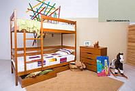 Двухъярусная кровать Дисней 80х190, 2-х ярусная кровать, цвет слоновая кость
