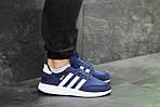 Чоловічі кросівки Adidas Iniki (сині), фото 2