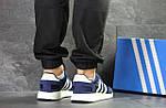 Чоловічі кросівки Adidas Iniki (сині), фото 4