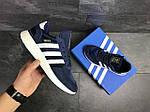Чоловічі кросівки Adidas Iniki (сині), фото 5