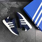 Чоловічі кросівки Adidas Iniki (сині), фото 6