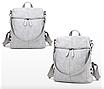Рюкзак женский сумка кожзам с заклепками Vanesa Серый, фото 2
