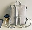 Рюкзак женский сумка кожзам с заклепками Vanesa Серый, фото 4