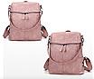 Рюкзак женский сумка кожзам с заклепками Vanesa Розовый, фото 2
