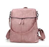 Рюкзак женский сумка кожзам с заклепками Vanesa Розовый