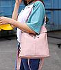 Рюкзак женский сумка кожзам с заклепками Vanesa Розовый, фото 4