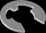 Шайба упорная быстросъемная, стопорная для вала, нержавеющая сталь DIN 6799