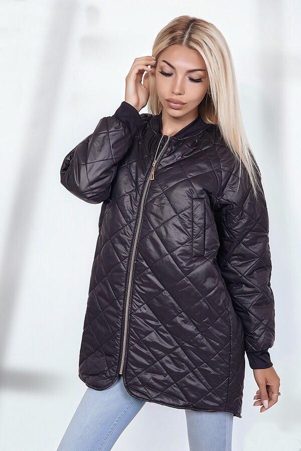 db1b69e5 Черная стеганая куртка женская ANK-1686: продажа, цена в Одессе ...
