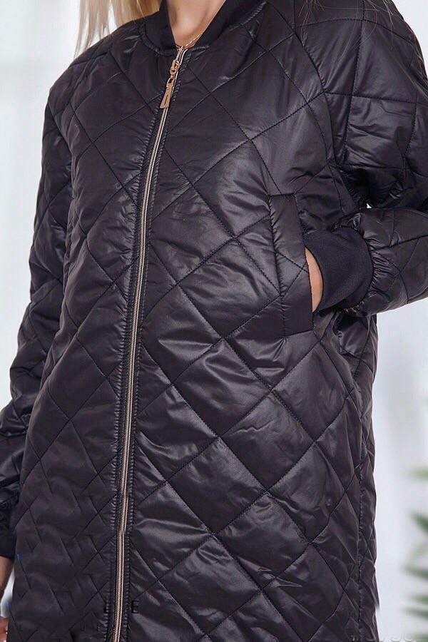 382f6741 Черная стеганая куртка женская ANK-1686, цена 1 026 грн., купить в Одессе —  Prom.ua (ID#886233485)