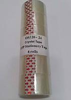 Скотч канцелярский , шир. 2.5см (6шт. в упаковке)