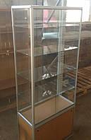 Торговая витрина с аллюминиевого профиля б/у (прозрачная), фото 1