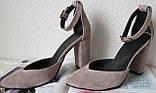 Mante! Красивые женские цвет латте босоножки туфли каблук 10 см весна лето осень, фото 3