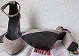 Mante! Красивые женские цвет латте босоножки туфли каблук 10 см весна лето осень, фото 4