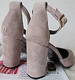 Mante! Красивые женские цвет латте босоножки туфли каблук 10 см весна лето осень, фото 5