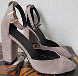 Mante! Красивые женские цвет латте босоножки туфли каблук 10 см весна лето осень, фото 6